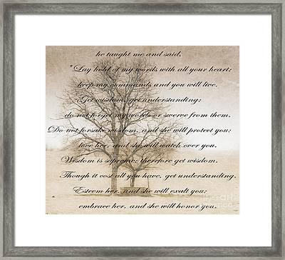 Wisdom Framed Print by Charles Dobbs