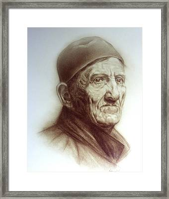 Wisdom Of Years Framed Print by Nanybel Salazar