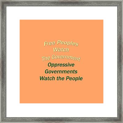 Wise Sayings About Government 5004.02 Framed Print by M K  Miller