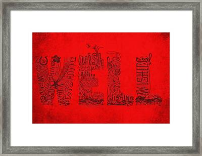 Wishing Well Framed Print by Laura Brightwood
