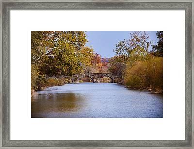 Wissahickon Autumn Framed Print by Bill Cannon