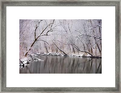 Wissahickon Creek In A Winter Wonderland Framed Print by Bill Cannon