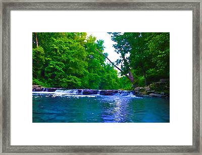 Wissahickon Waterfall Framed Print by Bill Cannon