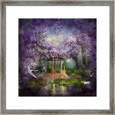 Wisteria Lake Framed Print by Carol Cavalaris
