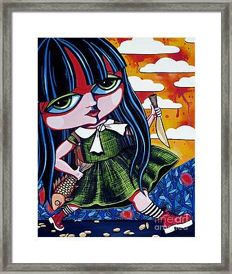 With Fish And Gold Coin Framed Print by Leanne Wilkes