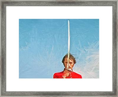 With Honour Framed Print by Tony Meaney