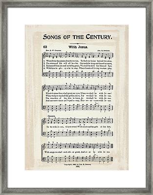 With Jesus 1899 Framed Print by Melissa Smith