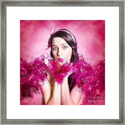 With Love And Hearts Framed Print by Jorgo Photography - Wall Art Gallery