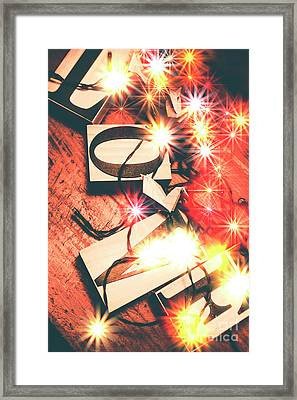 With Love And Lights Framed Print by Jorgo Photography - Wall Art Gallery