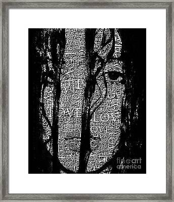 With Love.. - Black And White  Framed Print by Prarthana Kulasekara