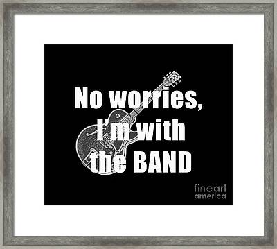 With The Band Tee Framed Print by Edward Fielding