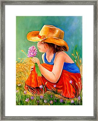 With These Hands--wonder Framed Print by Carol Allen Anfinsen