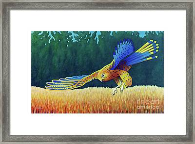 With These Wings Framed Print by Brian Commerford