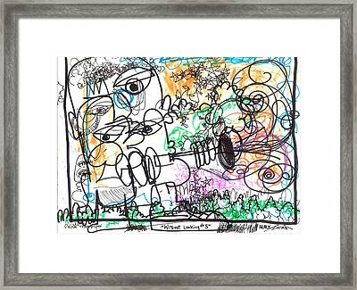 Without Looking Number Five Framed Print by Robert Wolverton Jr