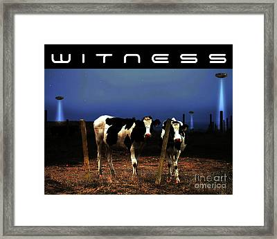 Witness . The Arrival . With Text Framed Print by Wingsdomain Art and Photography