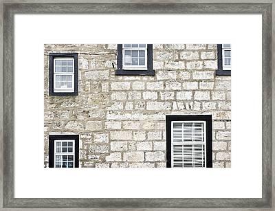 Wndows Framed Print by Tom Gowanlock