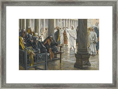 Woe Unto You Framed Print by Tissot