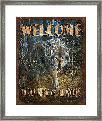 Wold Neck Of The Woods Framed Print by JQ Licensing