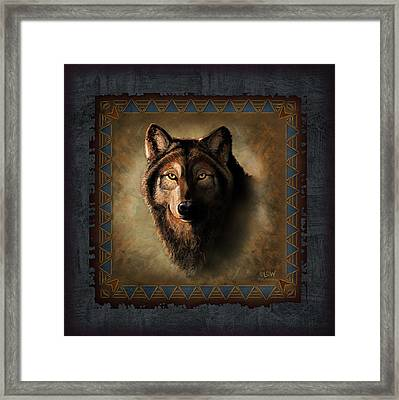 Wolf Lodge Framed Print by JQ Licensing