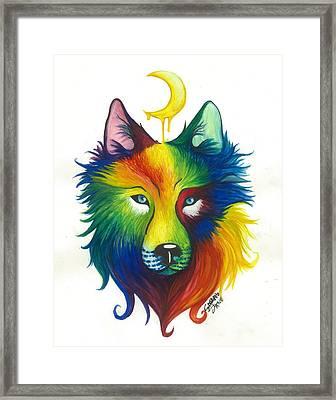 Wolf Spirit Framed Print by Sarah Jane