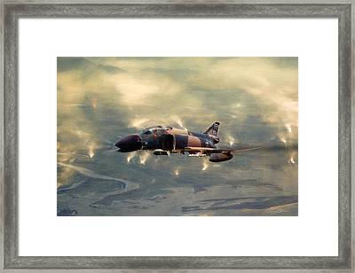 Wolfpack Lead Framed Print by Peter Chilelli