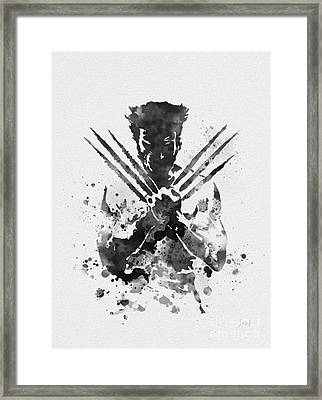 Wolverine Framed Print by Rebecca Jenkins