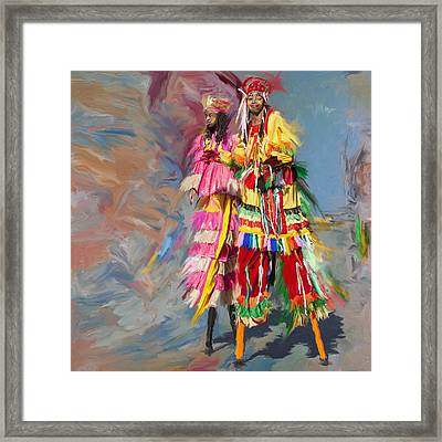 Wolverines Band 239 Framed Print by Mawra Tahreem