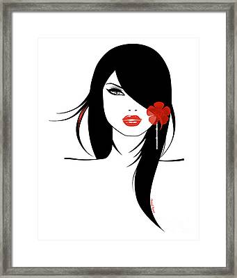 Woman 4 Framed Print by Cheryl Young