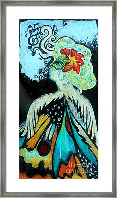 Woman At The Masquerade Ball Framed Print by Genevieve Esson