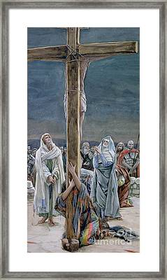 Woman Behold Thy Son Framed Print by Tissot
