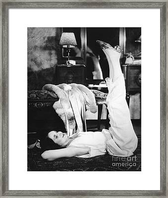 Woman Doing Calisthenics, C.1920-30s Framed Print by H. Armstrong Roberts/ClassicStock