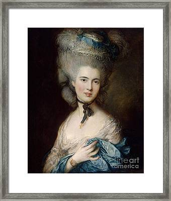 Woman In Blue The Duchess Of Beaufort Framed Print by Gainsborough