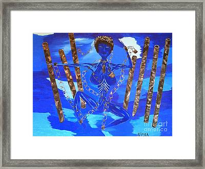 Woman In Chains Framed Print by Arena Simmons