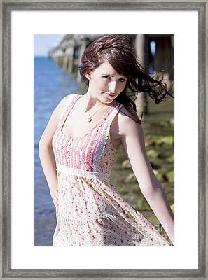 Woman In Paradise Framed Print by Jorgo Photography - Wall Art Gallery