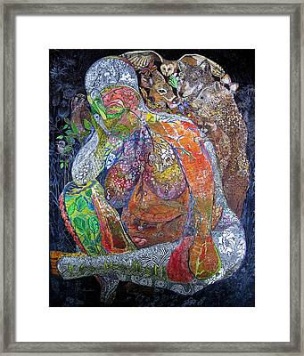 Woman Of Intuition Framed Print by Kristelle Ulrich