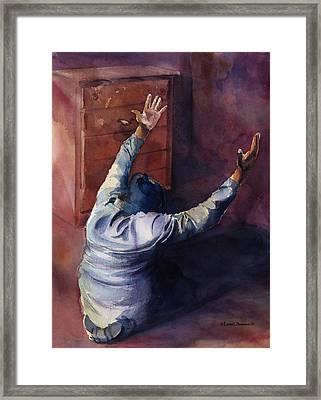 Woman Of Praise Framed Print by Lewis Bowman