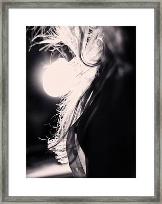 Woman Silhouette Framed Print by Stelios Kleanthous