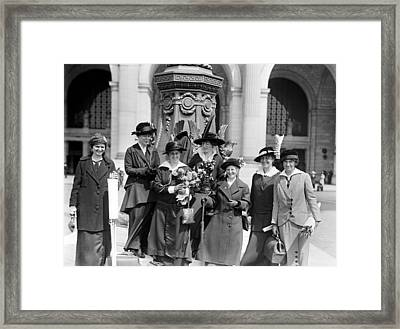 Woman Suffrage - Political Campaign Rose Winslow - Lucy Burns - Doris Stevens - Ruth Astor Noyes Etc Framed Print by International  Images
