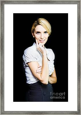 Woman Totally Captivated By What She Is Watching Framed Print by Jorgo Photography - Wall Art Gallery