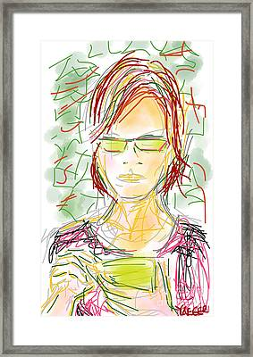 Woman With Cell Phone II Framed Print by Robert Yaeger