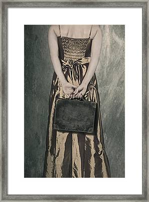 Woman With Suitcase Framed Print by Joana Kruse