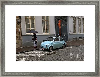 Woman With Umbrella Framed Print by Louise Heusinkveld