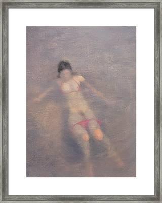Women Are Like Water Framed Print by Weiyu Xia