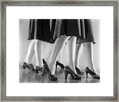 Women In Heels, C.1940s Framed Print by H. Armstrong Roberts/ClassicStock