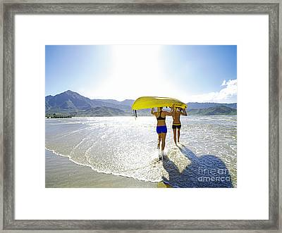 Women Kayakers Framed Print by Kicka Witte - Printscapes