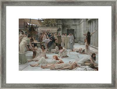 Women Of Amphissa Framed Print by Lawrence Alma-Tadema