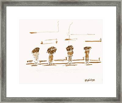 Women Of The Wailing Wall 2 Framed Print by Richard W Linford