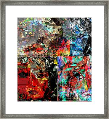 Women With Expressive Minds Framed Print by Fania Simon
