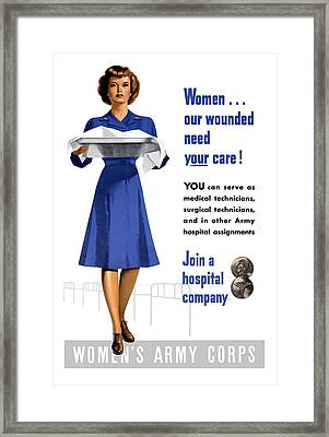 Women's Army Corps - Ww2 Framed Print by War Is Hell Store