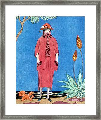 Womens Fashion, George Barbier, 1921 Framed Print by Science Source